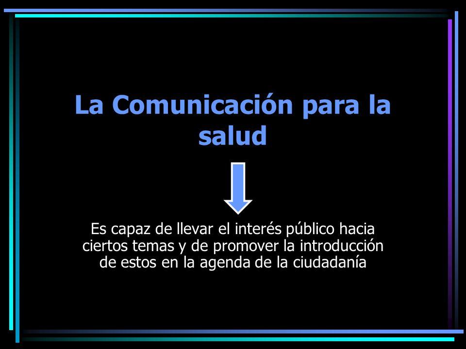La Comunicación para la salud