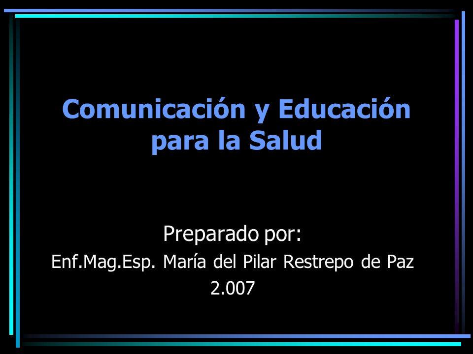 Comunicación y Educación para la Salud