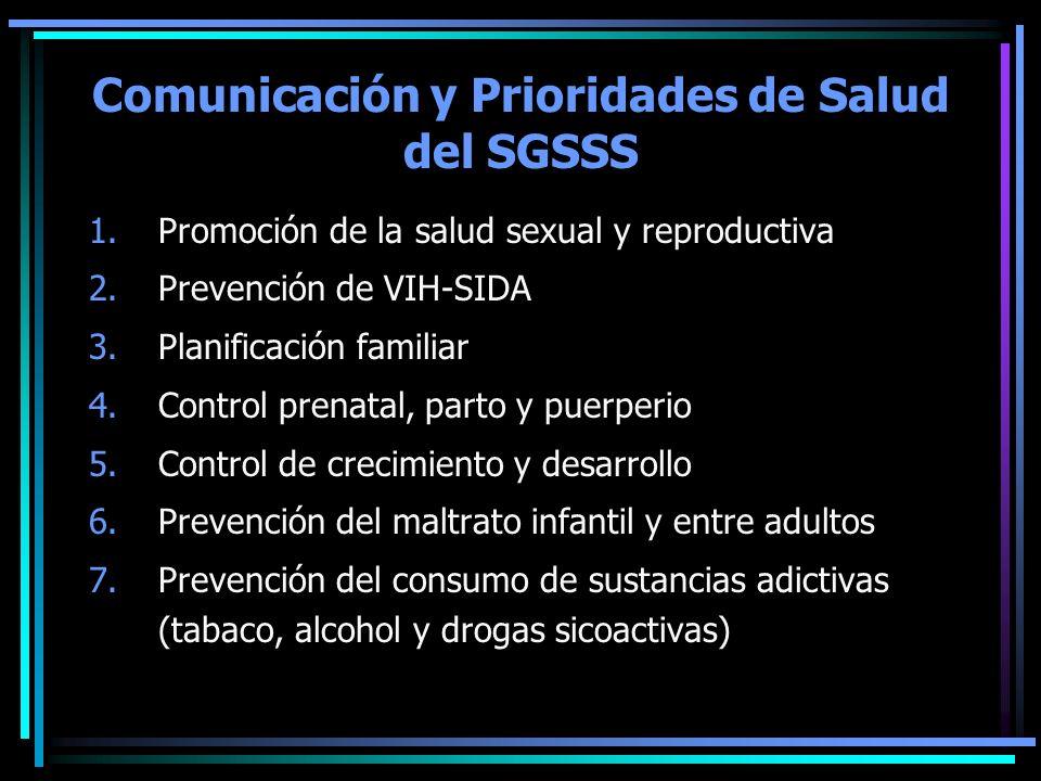 Comunicación y Prioridades de Salud del SGSSS