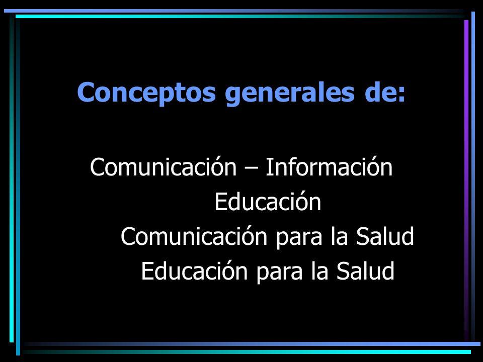 Conceptos generales de: