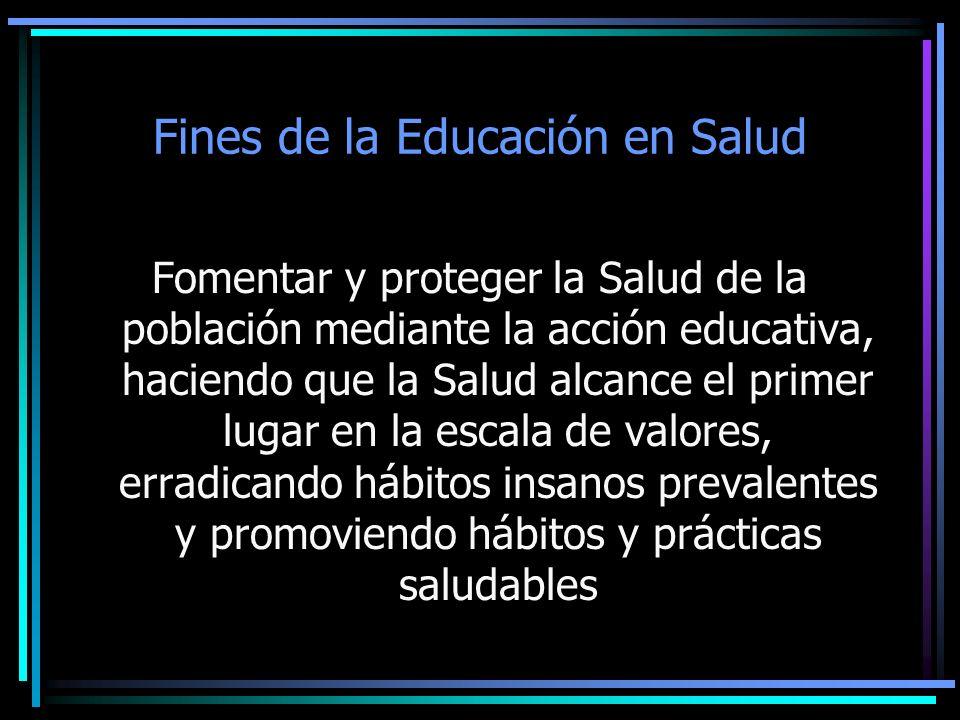 Fines de la Educación en Salud