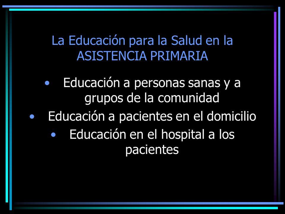 La Educación para la Salud en la ASISTENCIA PRIMARIA