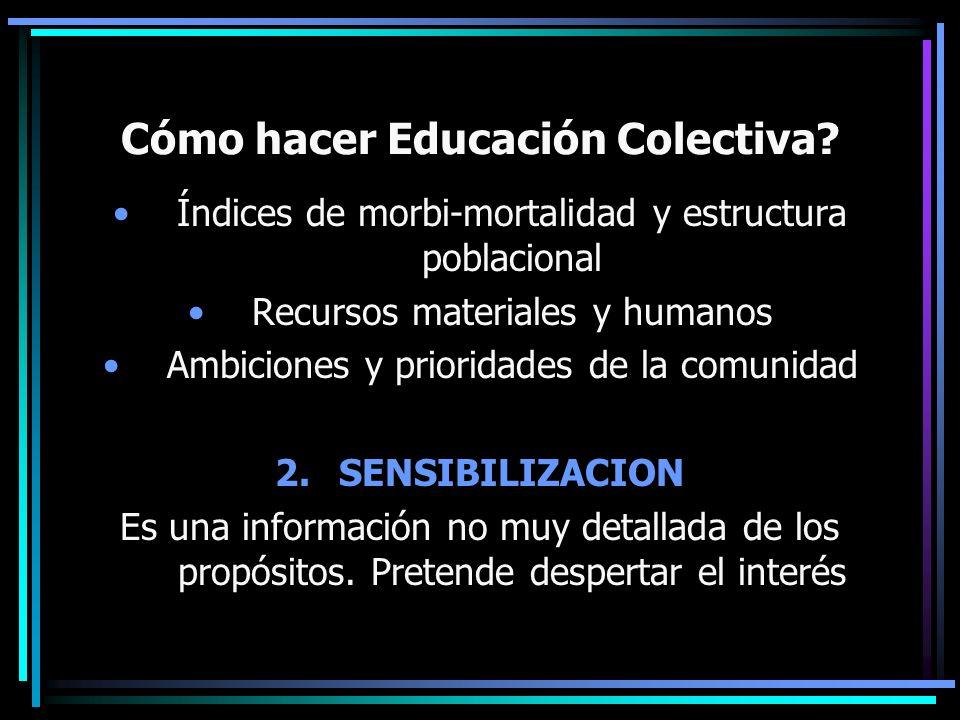 Cómo hacer Educación Colectiva