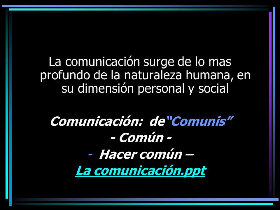 Comunicación: de Comunis