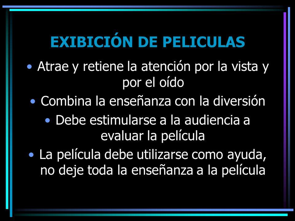 EXIBICIÓN DE PELICULAS