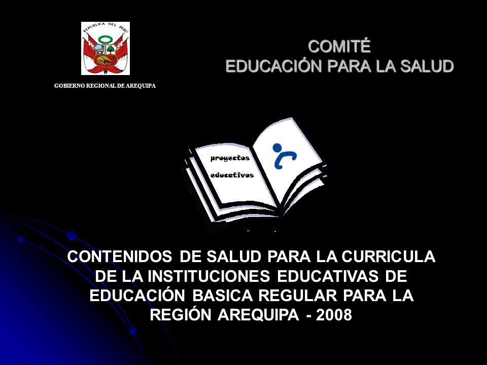 COMITÉ EDUCACIÓN PARA LA SALUD