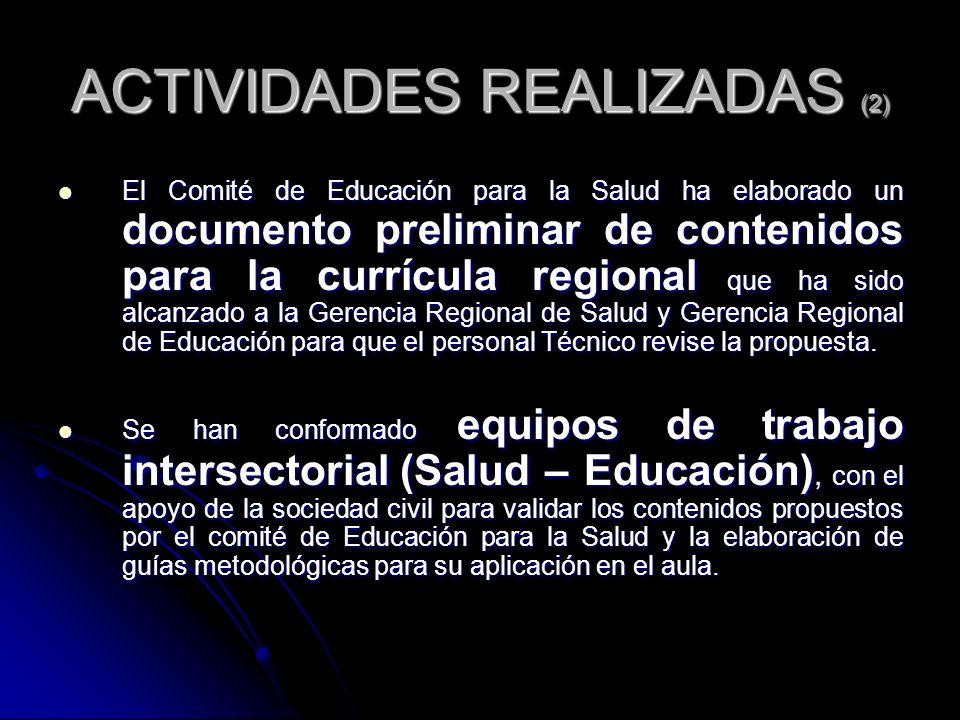ACTIVIDADES REALIZADAS (2)
