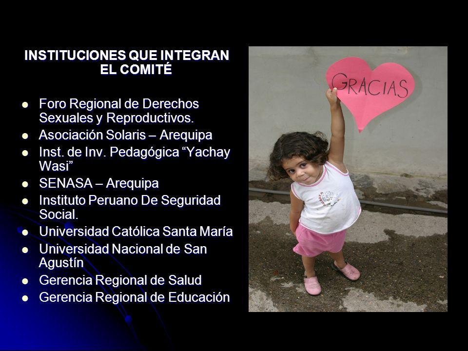 INSTITUCIONES QUE INTEGRAN EL COMITÉ