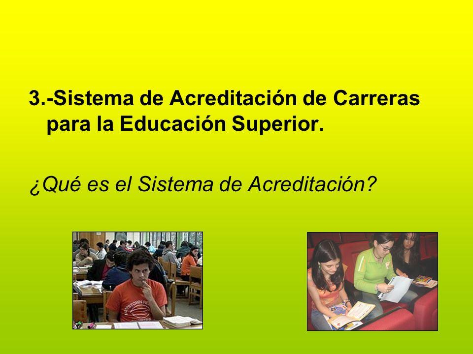 3.-Sistema de Acreditación de Carreras para la Educación Superior.
