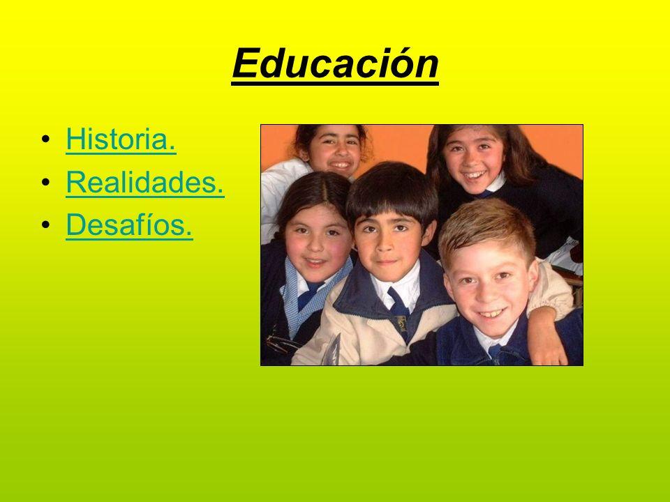 Educación Historia. Realidades. Desafíos.