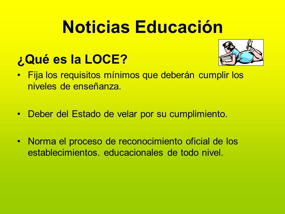 Noticias Educación ¿Qué es la LOCE