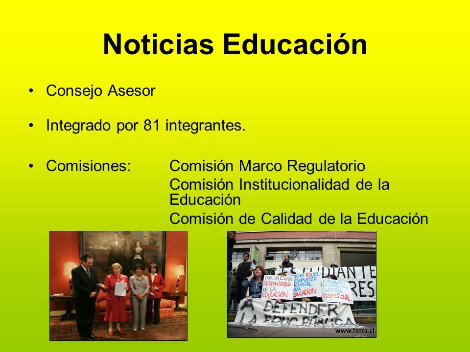 Noticias Educación Consejo Asesor Integrado por 81 integrantes.