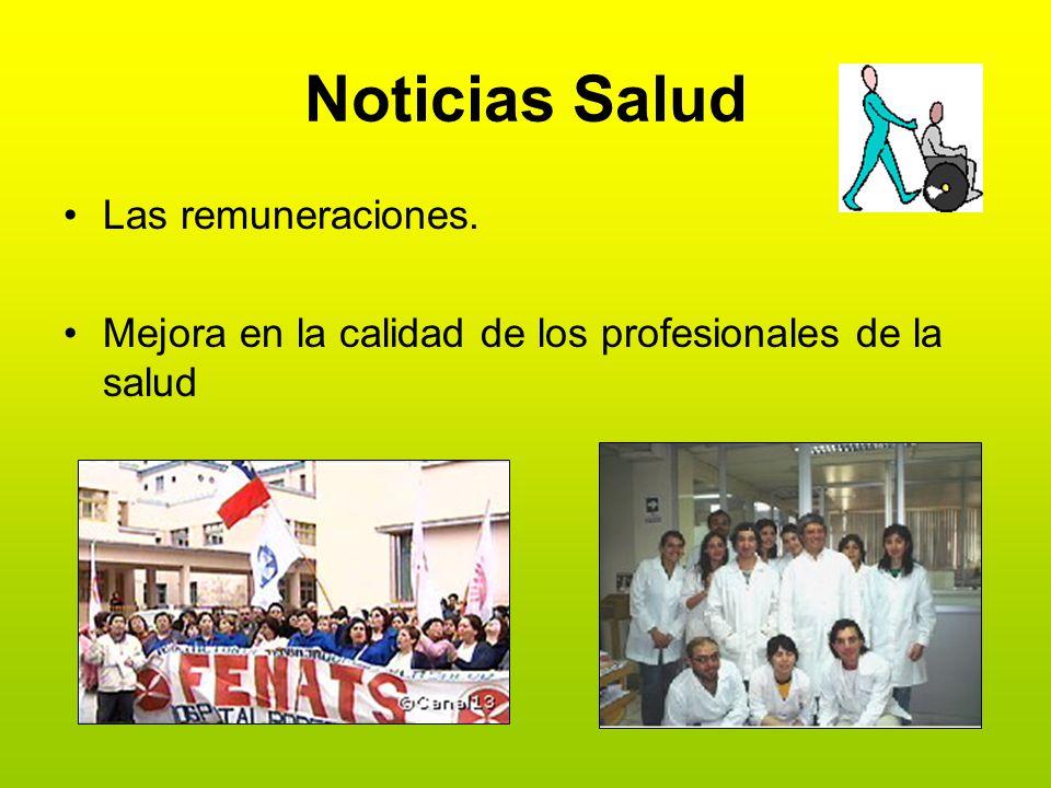 Noticias Salud Las remuneraciones.
