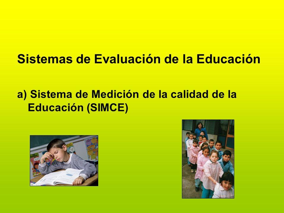 Sistemas de Evaluación de la Educación