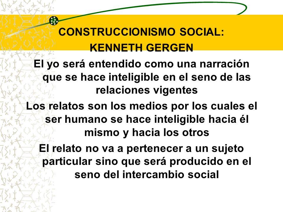 CONSTRUCCIONISMO SOCIAL: