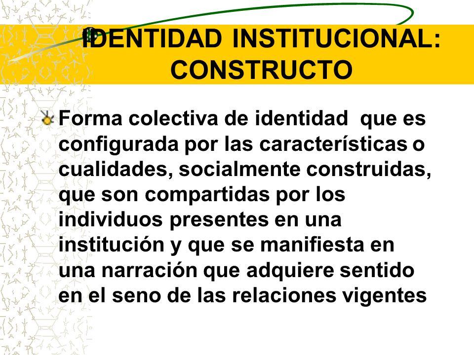 IDENTIDAD INSTITUCIONAL: CONSTRUCTO