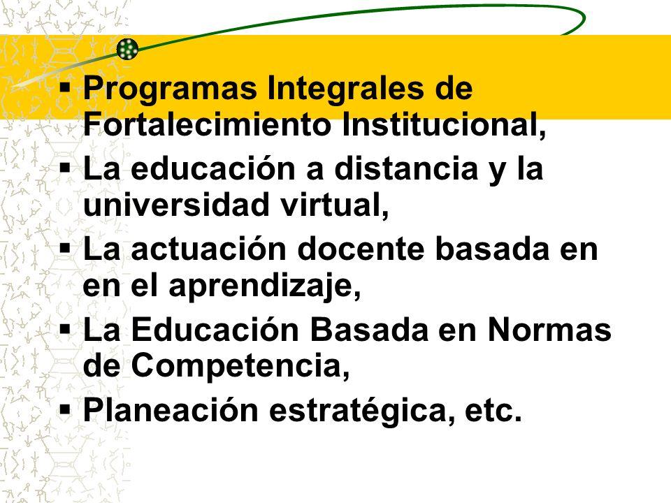 Programas Integrales de Fortalecimiento Institucional,