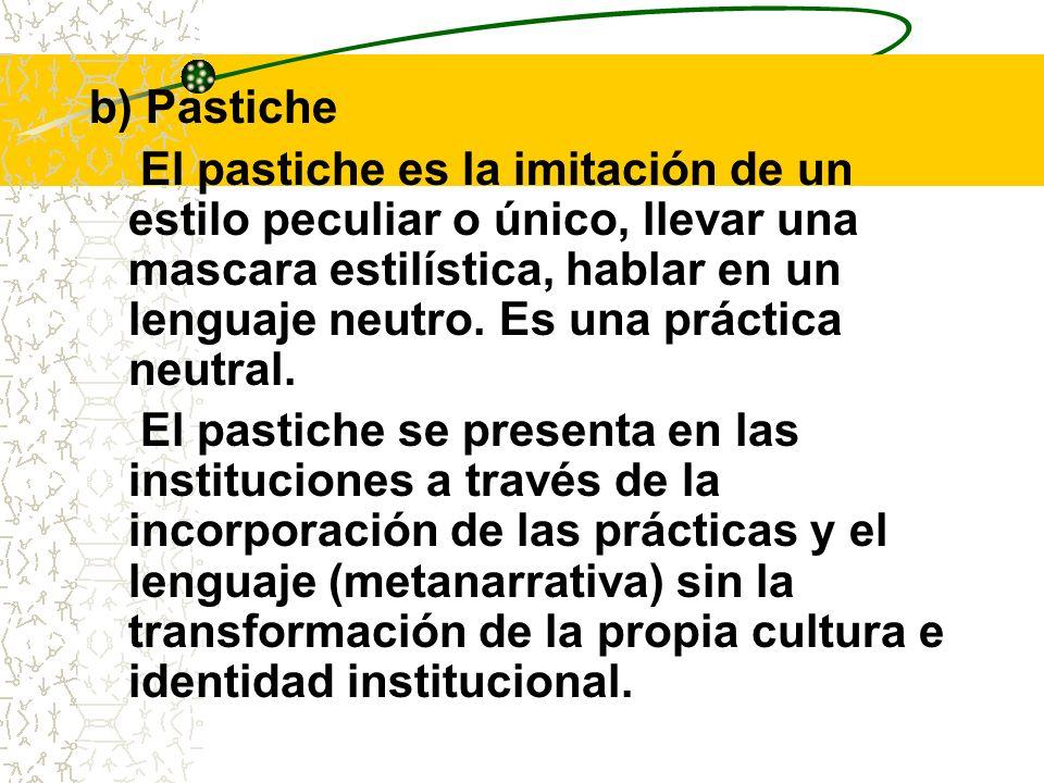 b) Pastiche