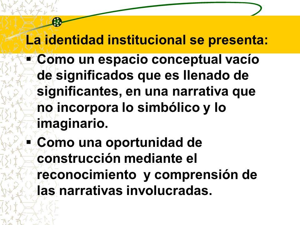 La identidad institucional se presenta: