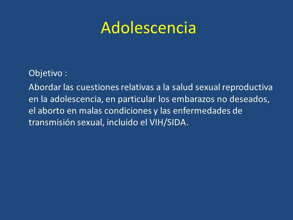 Adolescencia Objetivo :