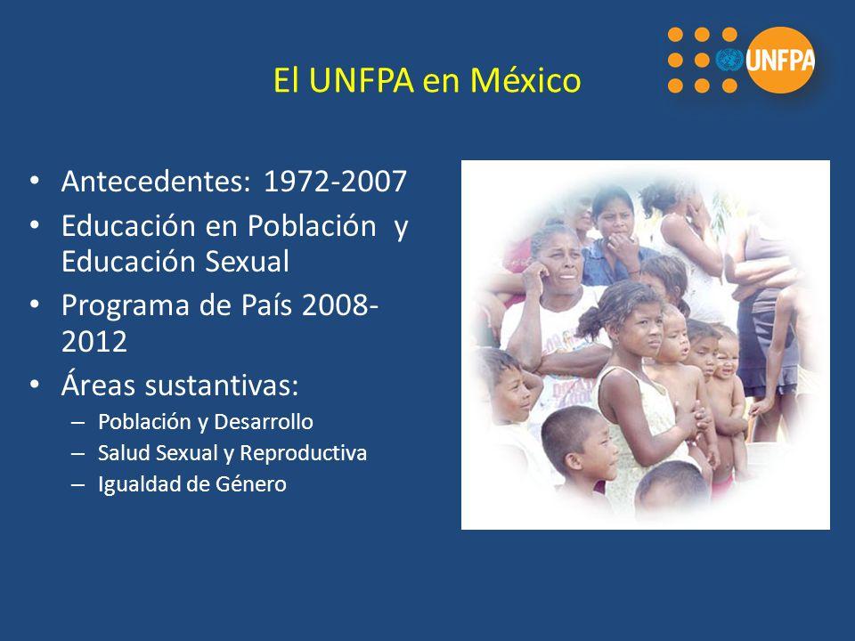 El UNFPA en México Antecedentes: 1972-2007