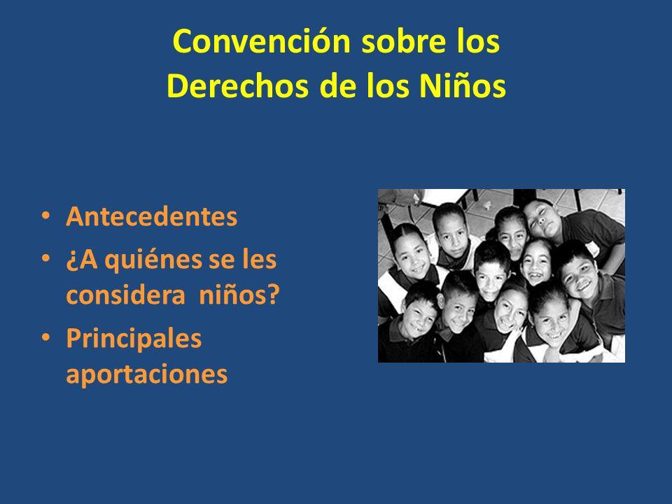 Convención sobre los Derechos de los Niños