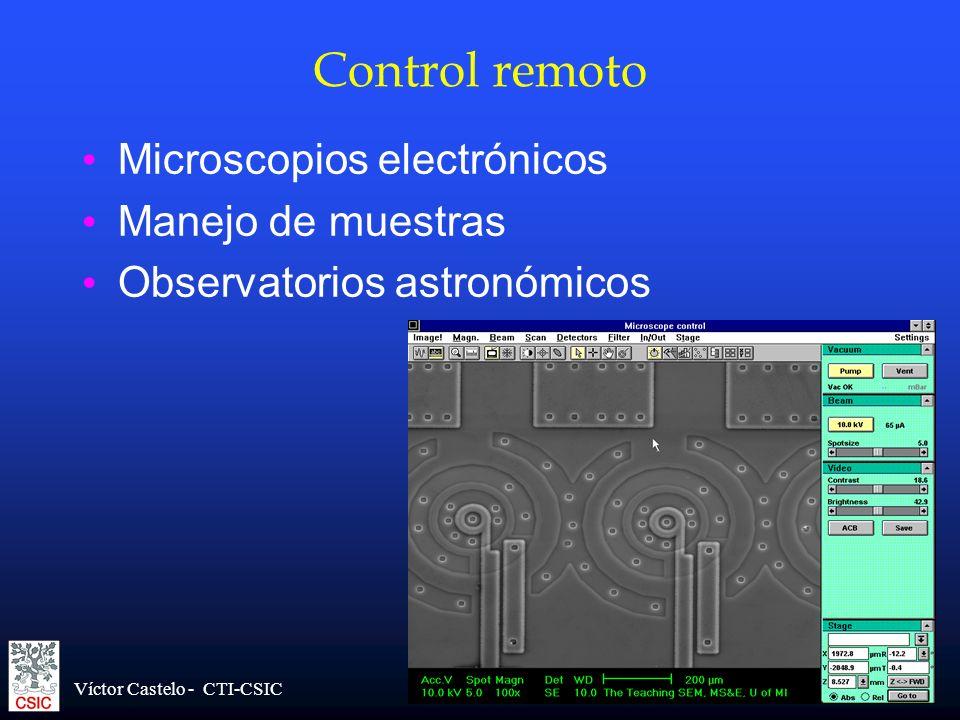 Control remoto Microscopios electrónicos Manejo de muestras
