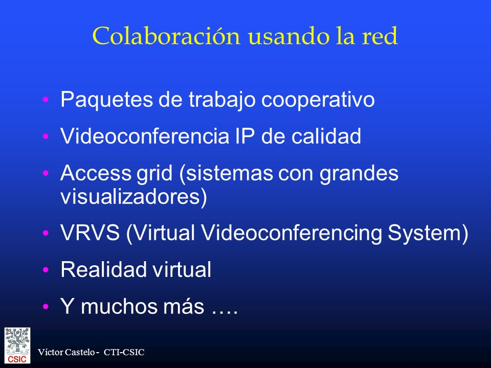 Colaboración usando la red
