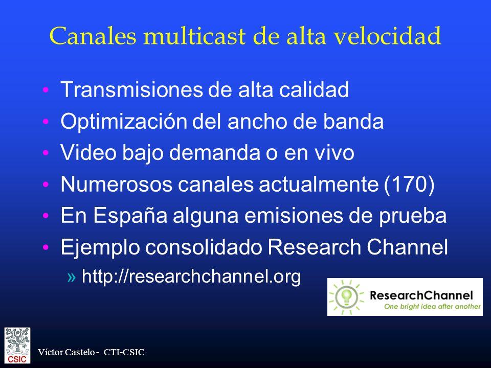 Canales multicast de alta velocidad
