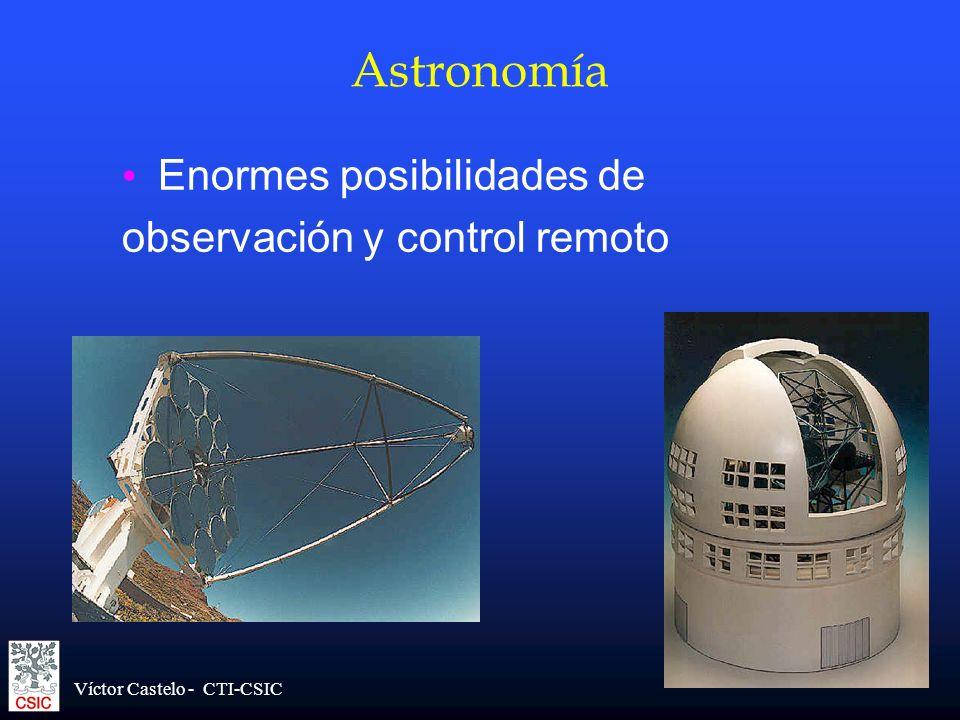 Astronomía Enormes posibilidades de observación y control remoto