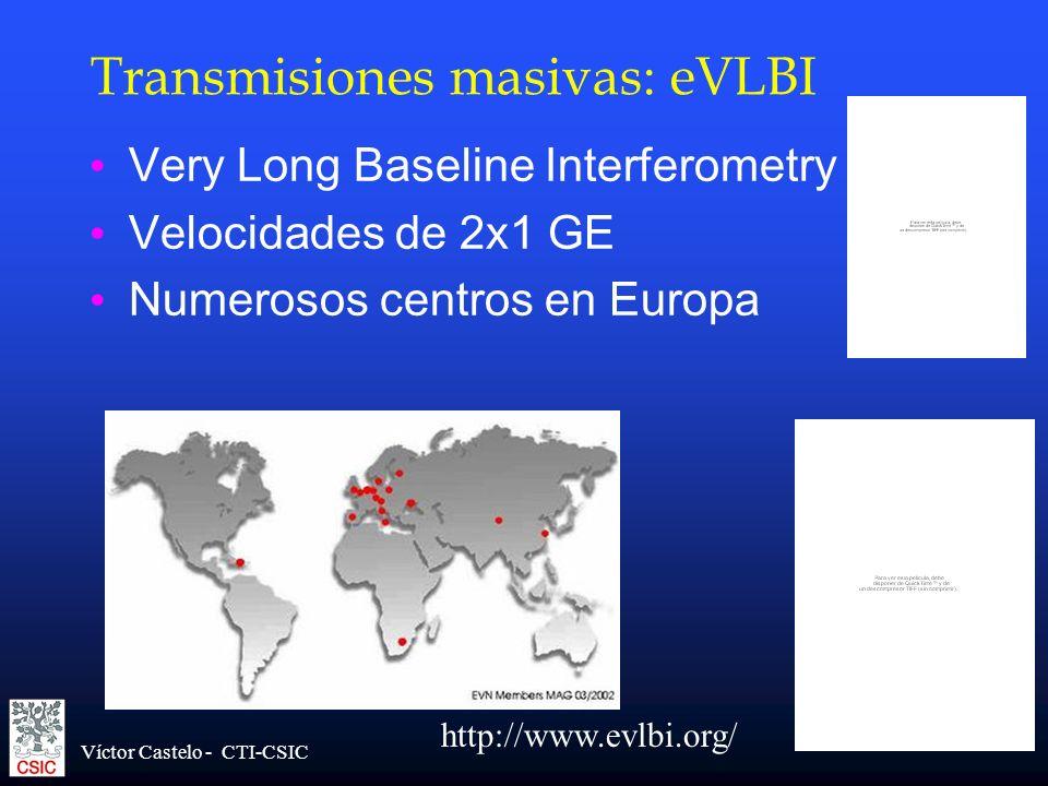 Transmisiones masivas: eVLBI