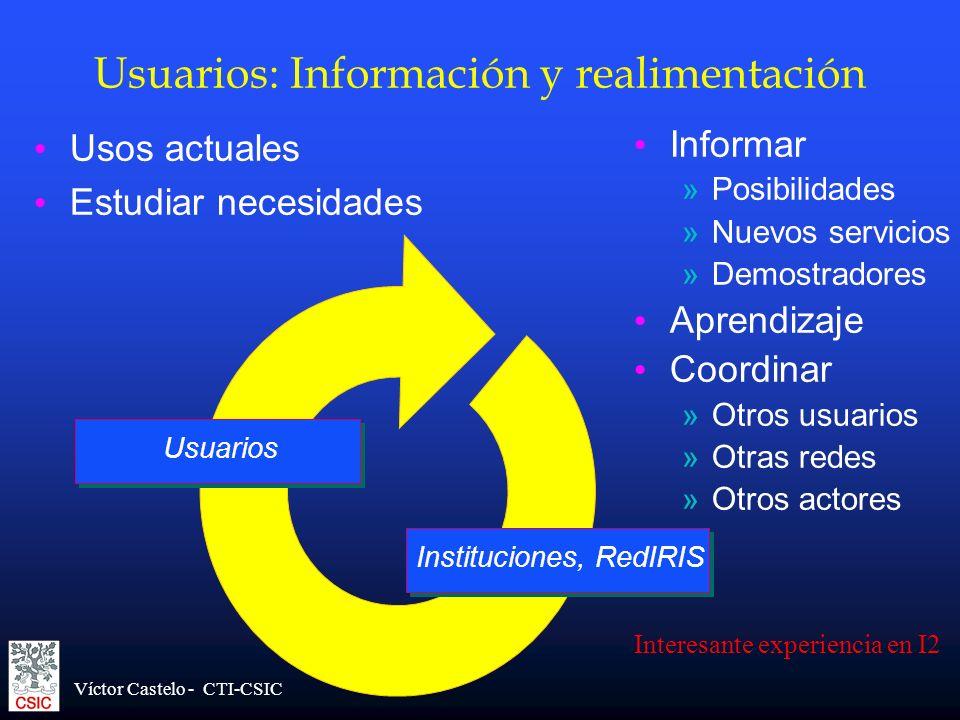 Usuarios: Información y realimentación