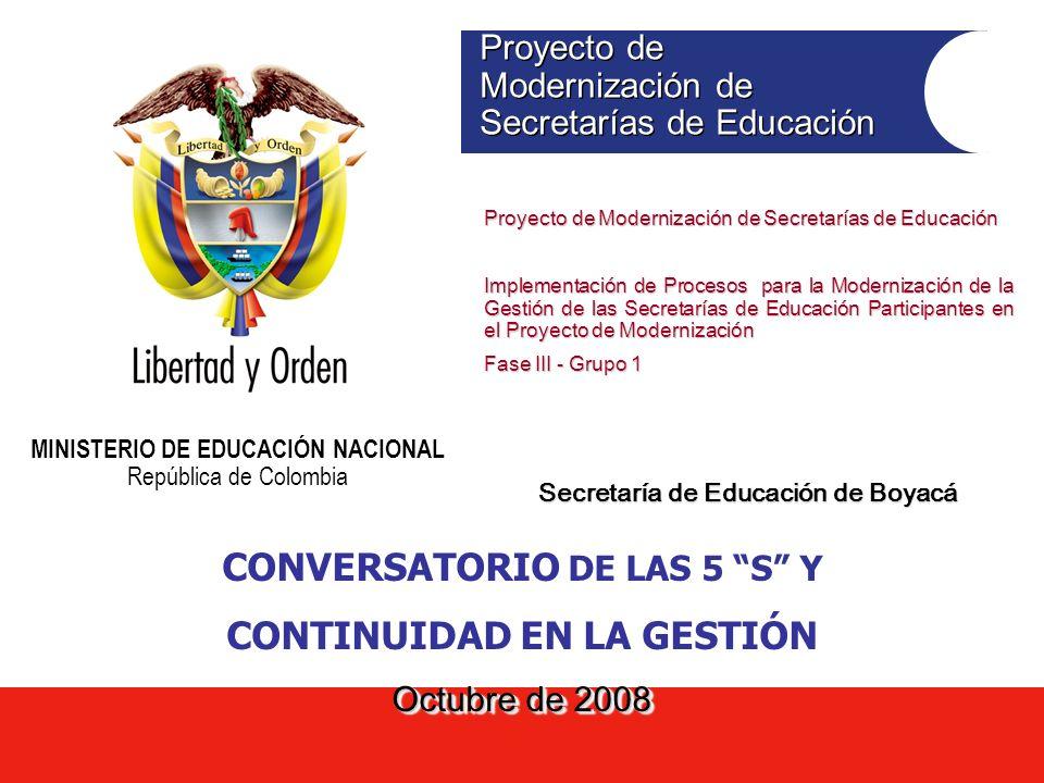 CONVERSATORIO DE LAS 5 S Y CONTINUIDAD EN LA GESTIÓN