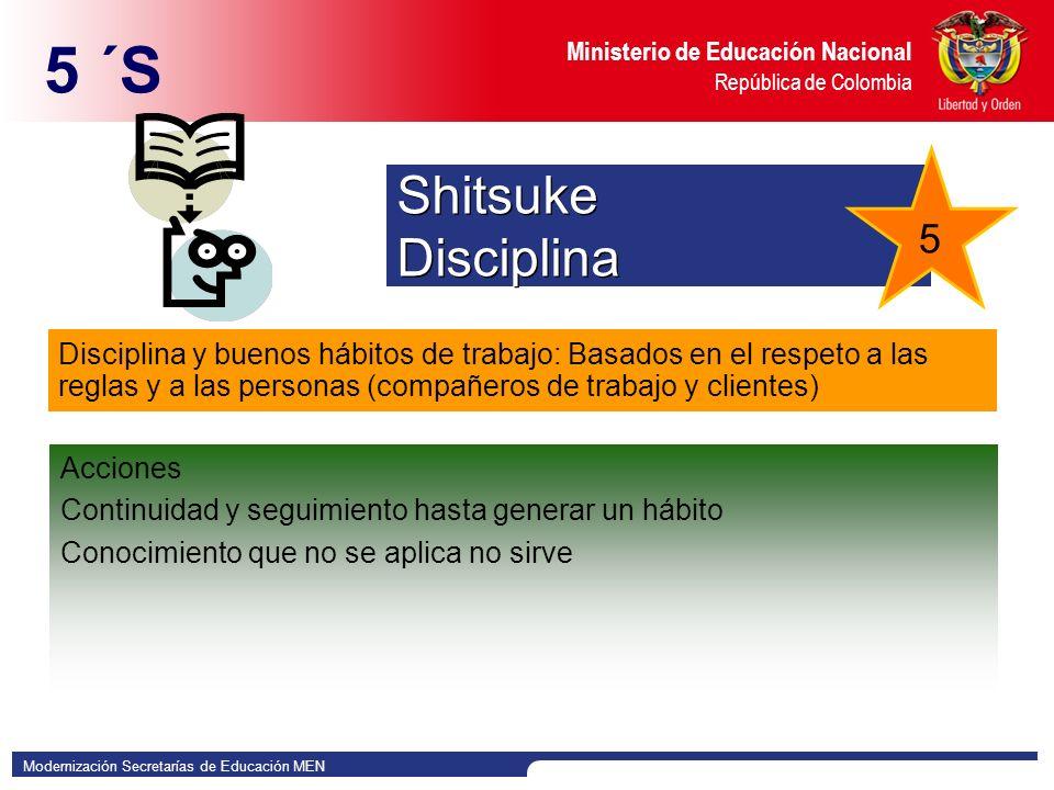 5 ´S Shitsuke Disciplina 5