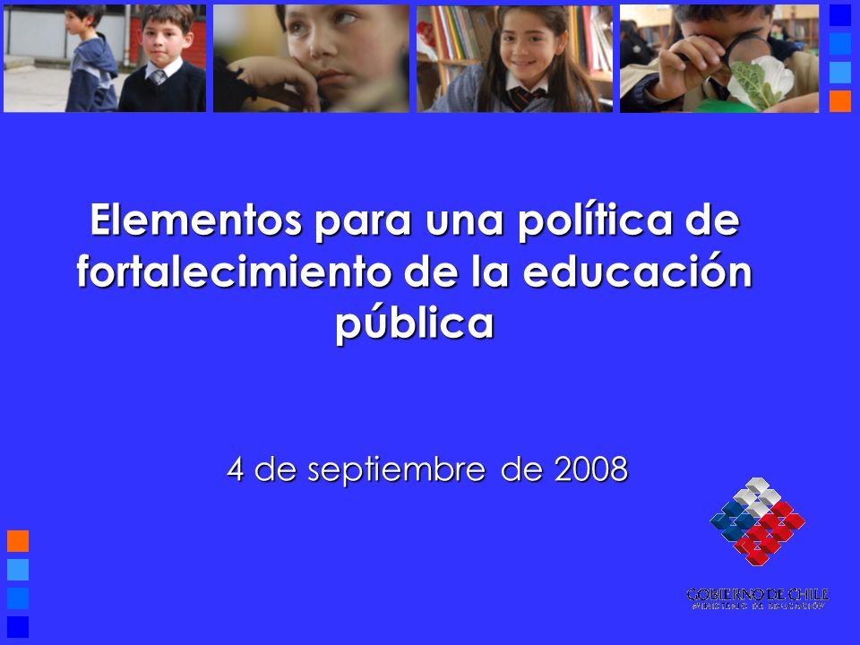 Elementos para una política de fortalecimiento de la educación pública