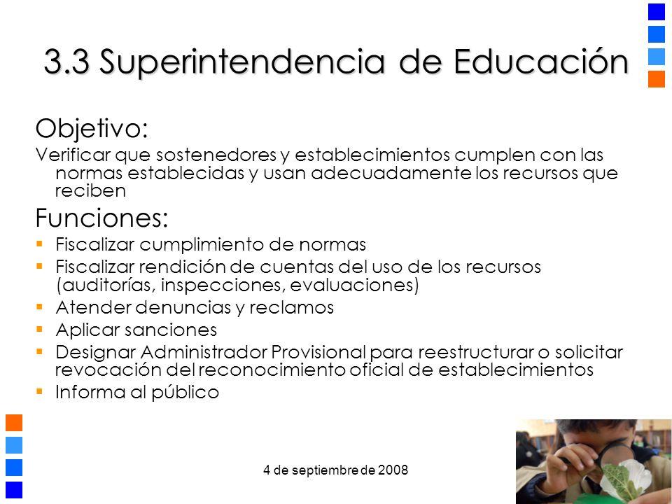 3.3 Superintendencia de Educación