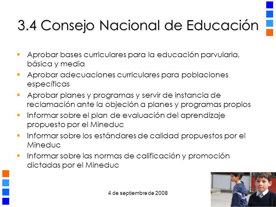 3.4 Consejo Nacional de Educación