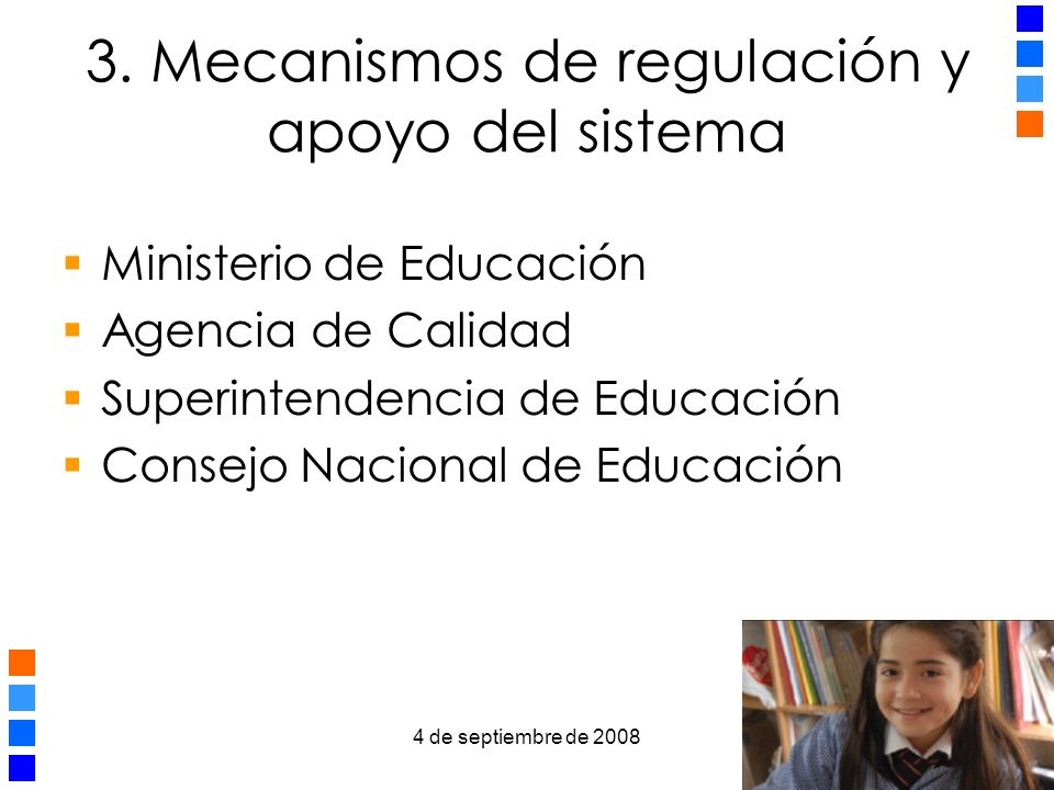 3. Mecanismos de regulación y apoyo del sistema