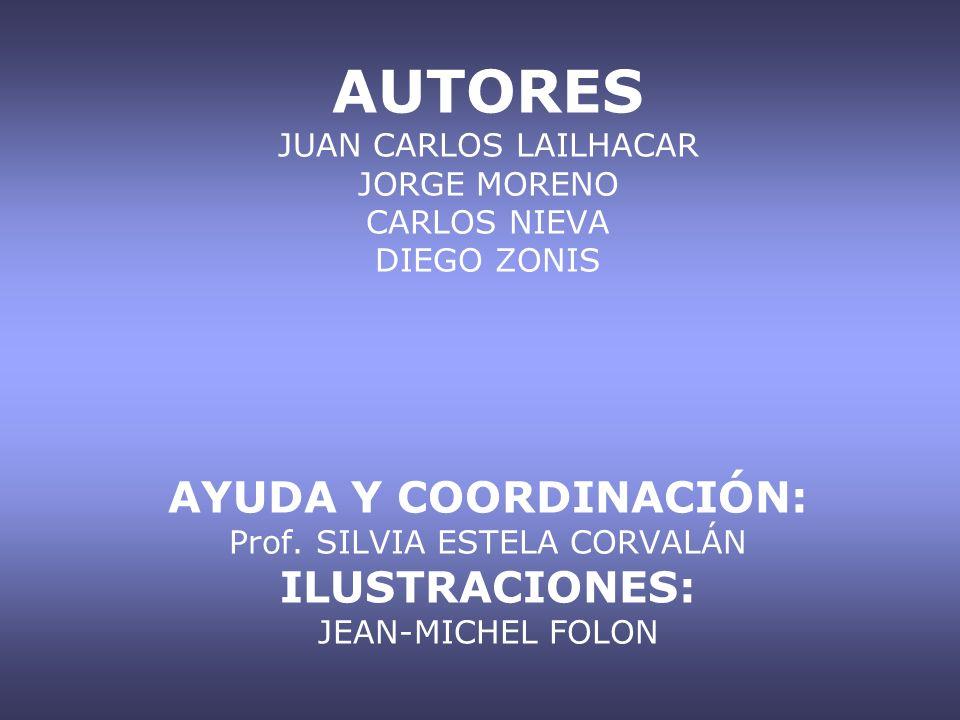 AUTORES JUAN CARLOS LAILHACAR JORGE MORENO CARLOS NIEVA DIEGO ZONIS AYUDA Y COORDINACIÓN: Prof.