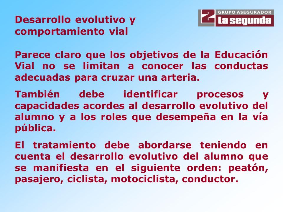 Desarrollo evolutivo y comportamiento vial