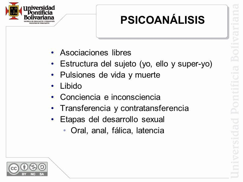 PSICOANÁLISIS Asociaciones libres