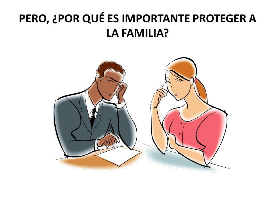 PERO, ¿POR QUÉ ES IMPORTANTE PROTEGER A LA FAMILIA