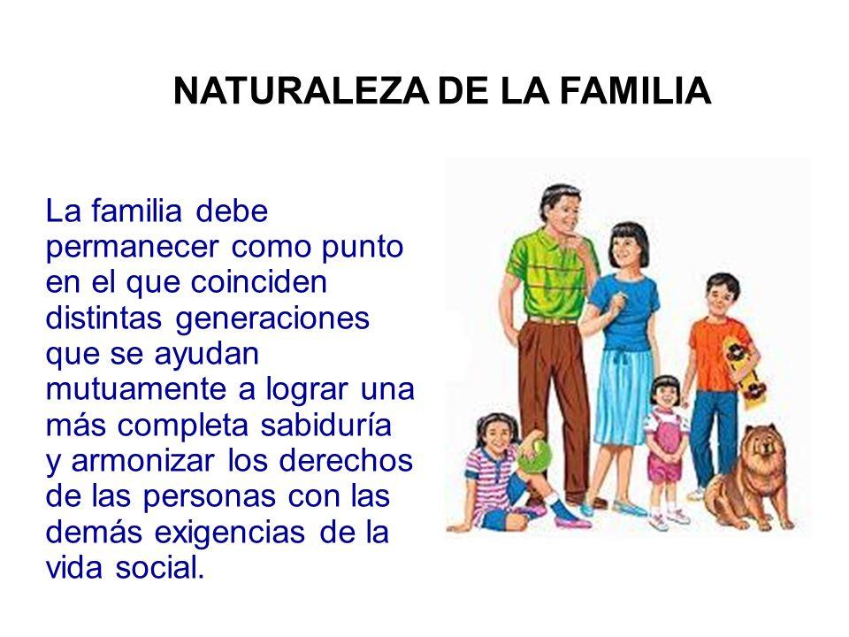 NATURALEZA DE LA FAMILIA