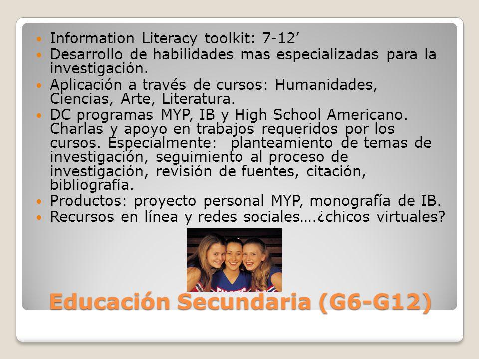 Educación Secundaria (G6-G12)