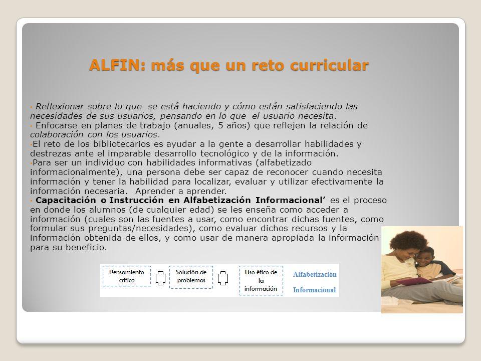 ALFIN: más que un reto curricular