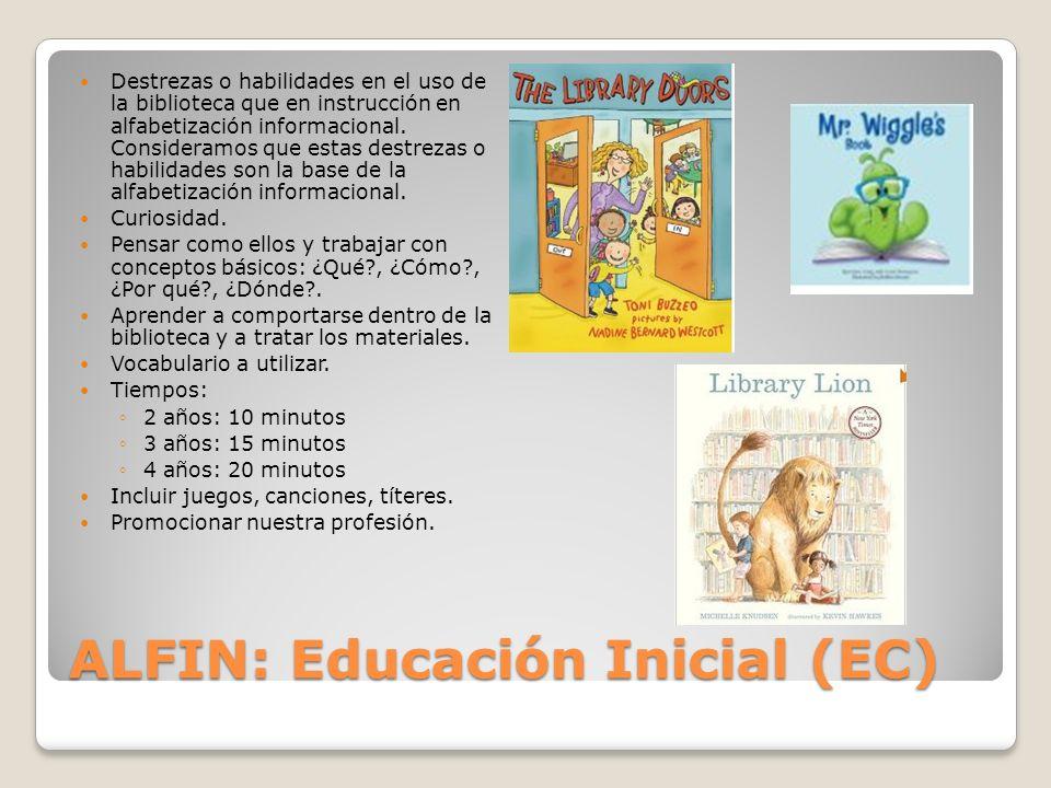 ALFIN: Educación Inicial (EC)