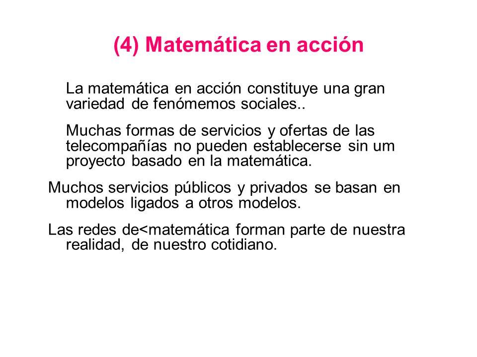 (4) Matemática en acción