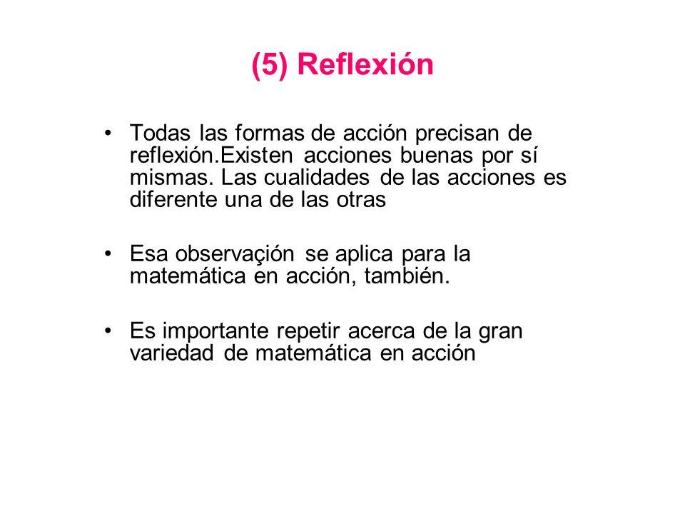(5) Reflexión