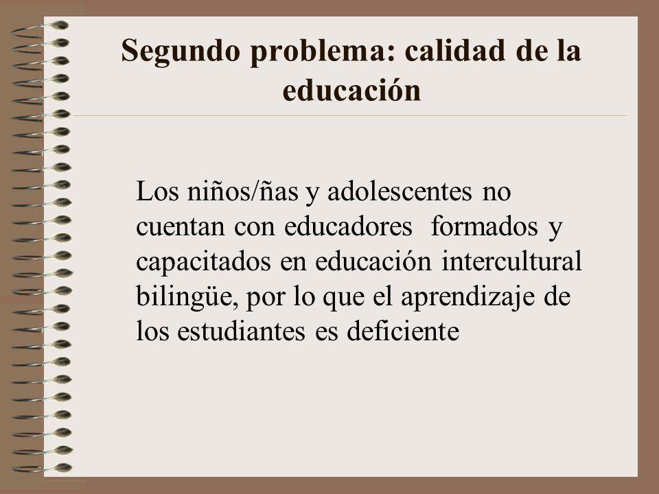 Segundo problema: calidad de la educación