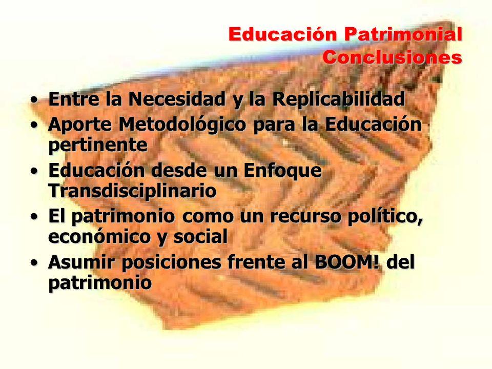 Educación Patrimonial Conclusiones